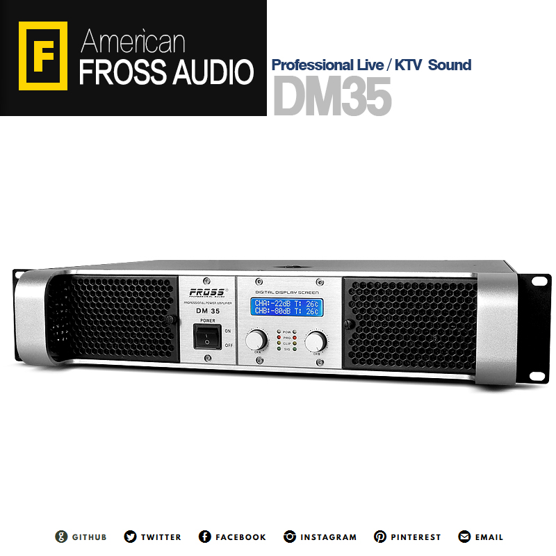 Fross / boiling DM35 2017 pure power amplifier with digital protection