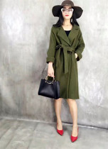 Woolen cloth coat girl long winter 2016 new Korean leisure thicken Army Green and khaki woolen coat
