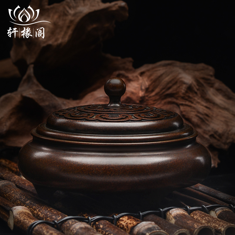 Xuan Hao Ge pure copper incense stove large antique household sandalwood line incense dish incense stove indoor Xuande stove furnishings