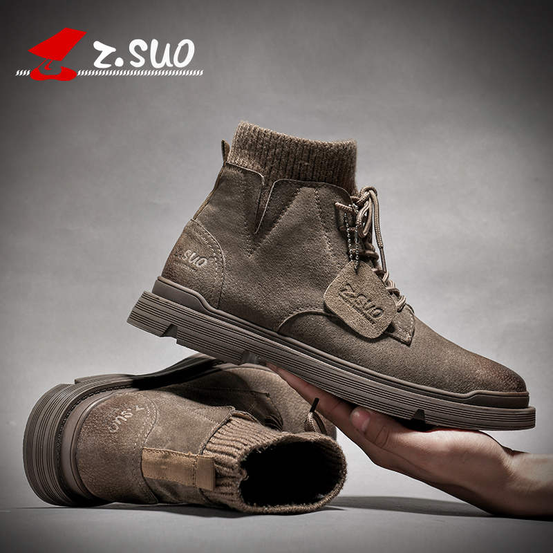 Spring new trend Snow Boots Men's Korean casual shoes British men's shoes fashion shoes tooling Martin boots man