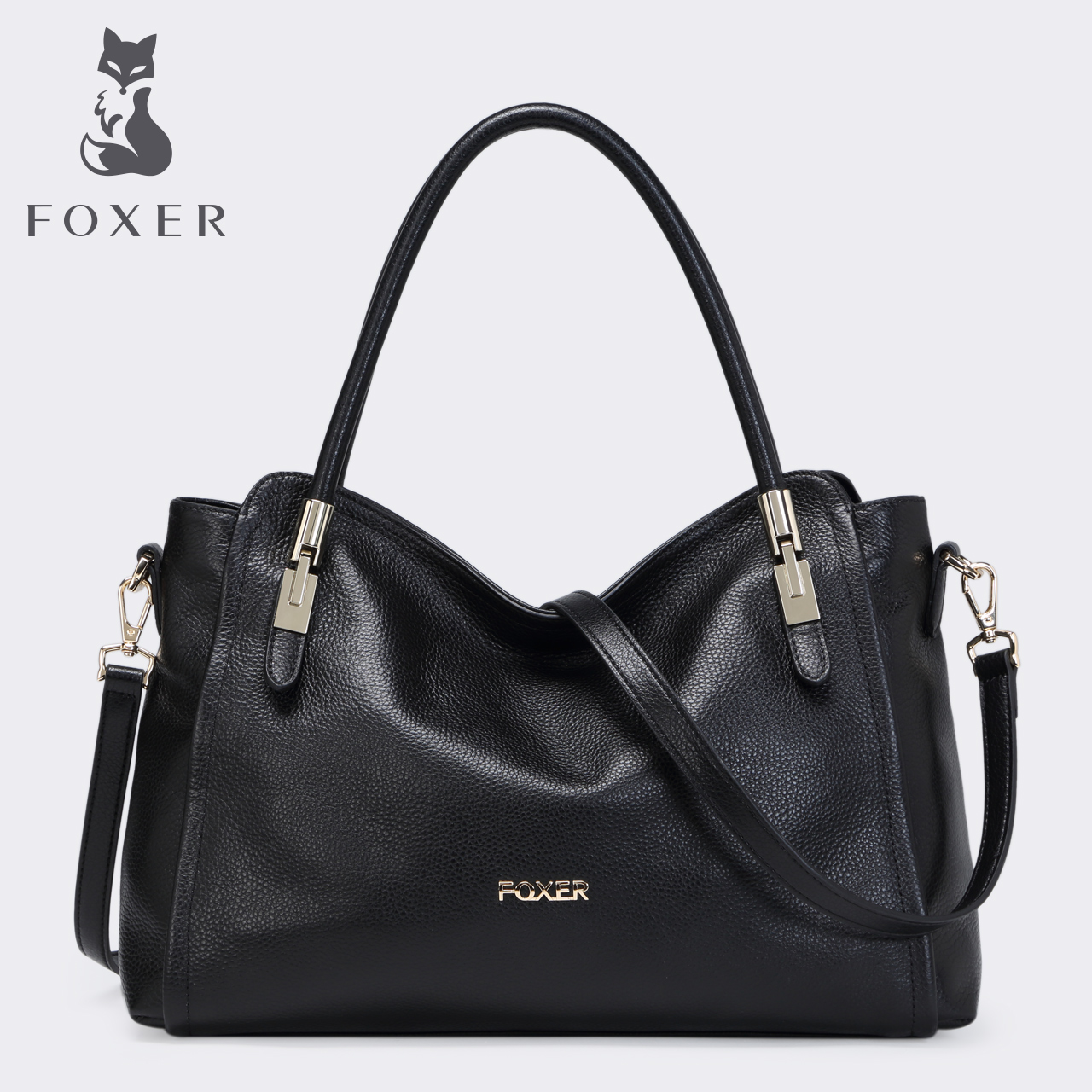 Gold fox new shoulder bag female European and American fashion leather ladies bag casual Messenger portable handbag tide