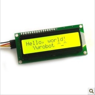 LCD1602 LCD Module Yellow Green Screen I2C Microcontroller New Promotion