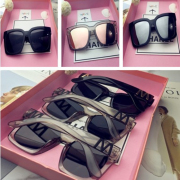 Large Sunglasses 2017 new black square face Sunglasses retro glasses face South Korea tide Harajuku