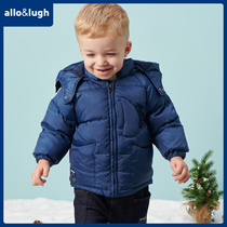 allolugh a road and such as childrens childrens winter clothing down jacket solid color simple Foreign-style winter clothing hooded jacket