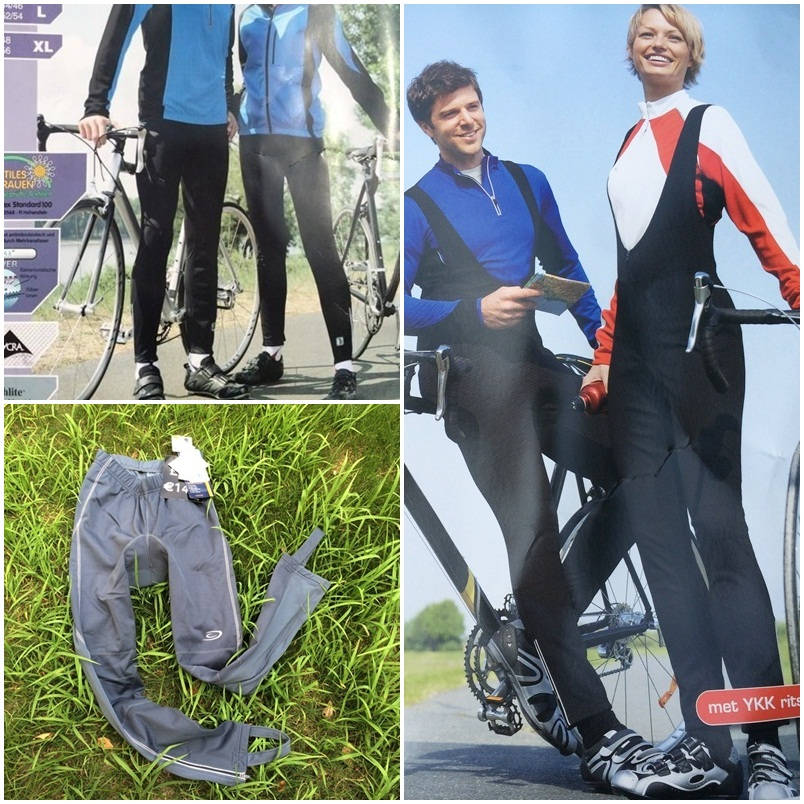 New couples ride German CRANE trousers in autumn and winter with velvet and warm composite windproof bicycle trousers