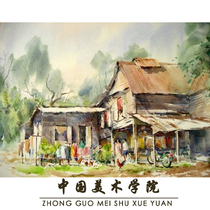 Generation painting Watercolor characters gouache landscape Gift painting Graduation creation Decorative oil painting Customizable sketch Pure hand-painted