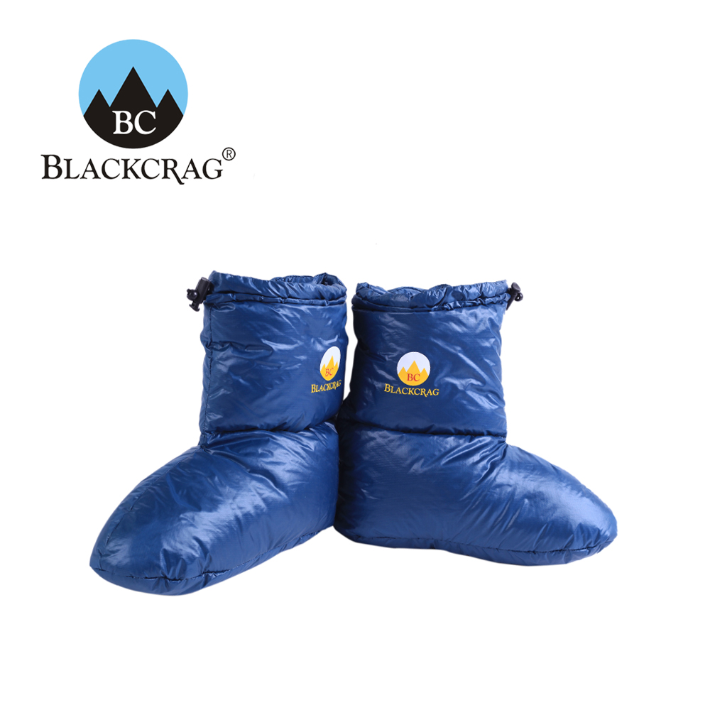 BLACKCRAG/Black Rock Ultra Light Down Socks Warm Down Foot Cover Outdoor Camp Boots Thickened Down Socks