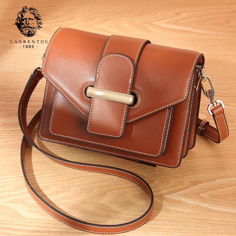 Old Head Genuine Leather Baggage Girls 2019 New Korean Edition Chao Baitao Slant Fashion Large Capacity Ladies One Shoulder Baggage Girls