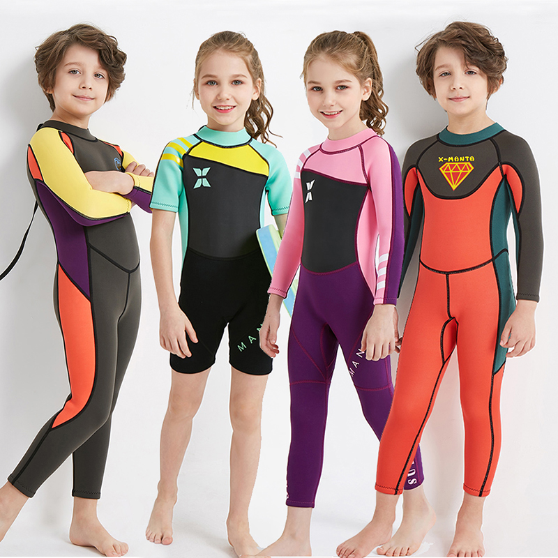 2.5MM Children's Thickened Warm Swimming Suit Diving Suit for Boys and Cold-proof Girls
