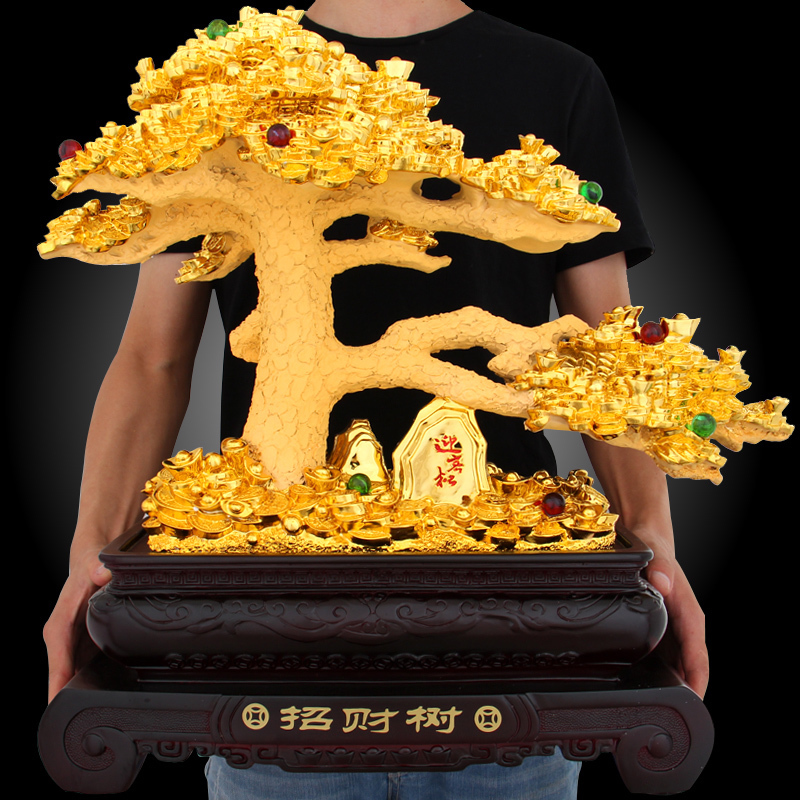 Wealth Tree Decoration Recruitment Tree Wealth Tree Company Shop Opening Gift Home Crafts Decoration