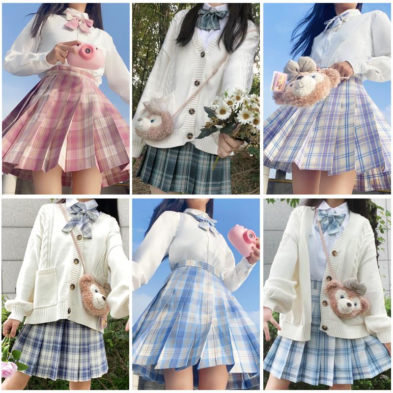 JK Uniform Set Original jk Uniform Skirt Genuine Full Autumn Dress High School Student Uniforms Academy Autumn Winter