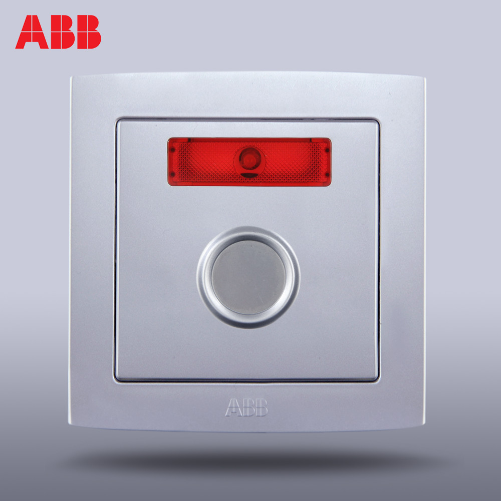 ABB switch socket panel ABB socket/German straight silver touch delay AL414-S