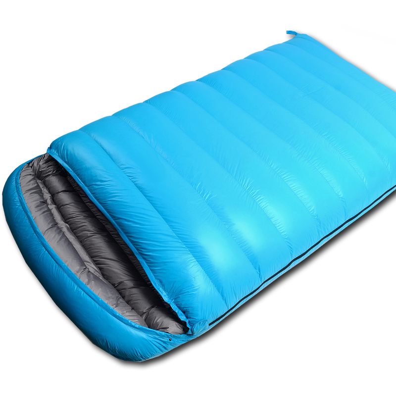 Double down sleeping bag Outdoor adult camping indoor warm travel adult sleeping bag Dirty ultra light portable