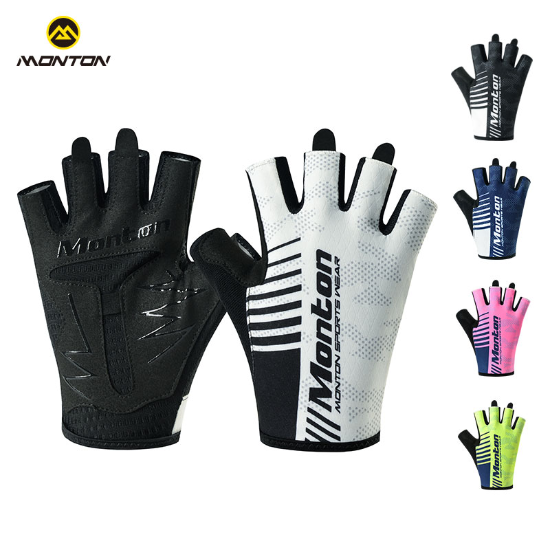 Monton cycling, Monton pulse 17 professional road bike wear-resistant non-slip short finger gloves half finger men and women Carter