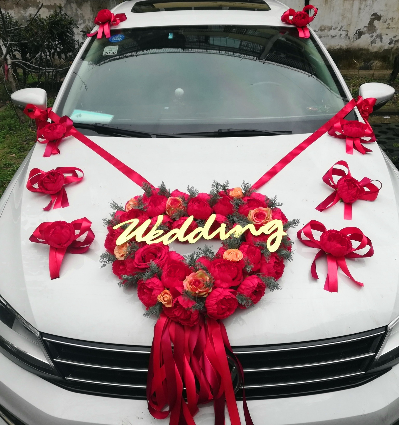 Wedding supplies a full set of the main knot wedding car decoration set flower car decoration fleet head flower wedding car decoration