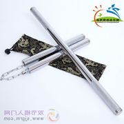 Post Taohua Island stainless steel double in one pair of double stick performance of the actual practice of two sticks
