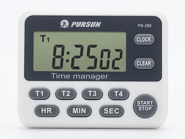 Tracking the new PS-396 four-channel timer Positive countdown timer Beautiful appearance No radiation