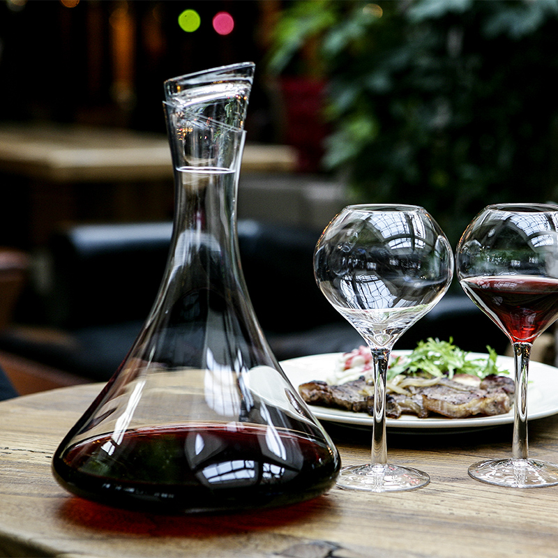 Manual lead-free crystal glass wine red wine decanter wine cooler with lid breathing decanter