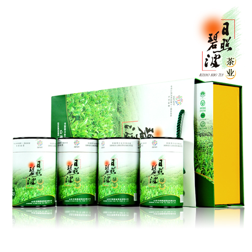 2018 New Tea Rizhao Green Tea Rizhao Green Tea 62.5gX4 Bottled Gift Box 250g