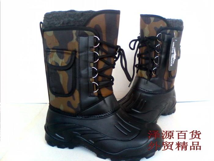 Snow boots, portable warming boots, waterproof and ski-proof boots, fishing boots, troop training boots