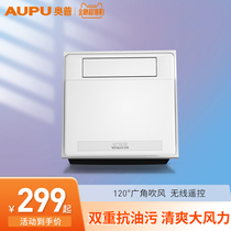 Opal kitchen embedded integrated ceiling electric fan air-conditioned dressing room with lighting two-in-one cold bar
