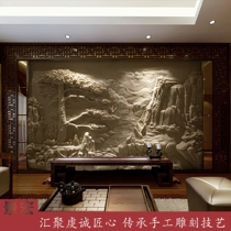 Custom sandstone sandstone artificial stone sculpture carved glass steel imitation copper murals Villa interior and exterior decoration background wall