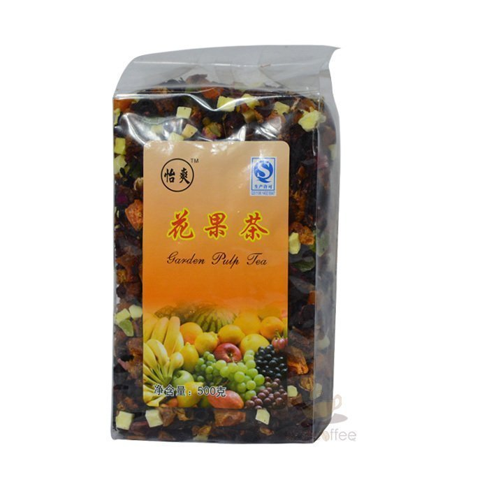 [The goods stop production and no stock]Xiancaofang strawberry-flavored flower-fruit tea flesh can eat fruit pellet tea fruit tea 500g flower-fruit tea