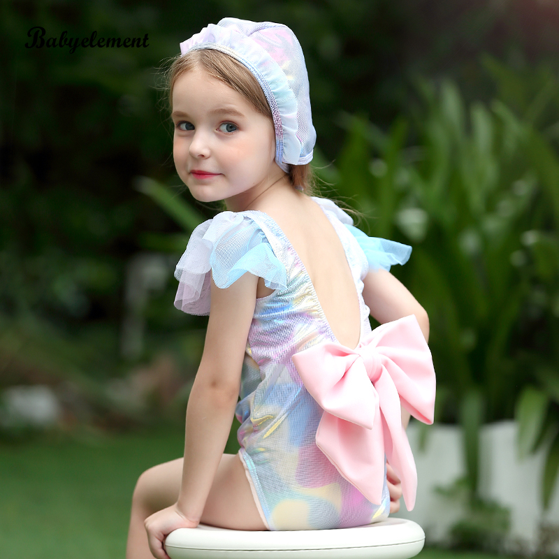 Girls Swimming Suit Connection 2019 New Super Cute Children Little Girl Mermaid Baby Bikini 2 Swimming Suit 3 Years Old