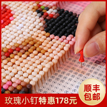 Nail painting diy custom photo pin puzzle portrait creative handmade gifts made by nail real people