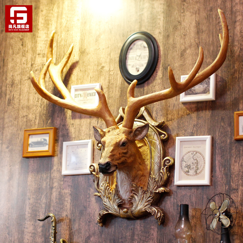 Creative wall decoration of European-style American restaurant bar wall hangings
