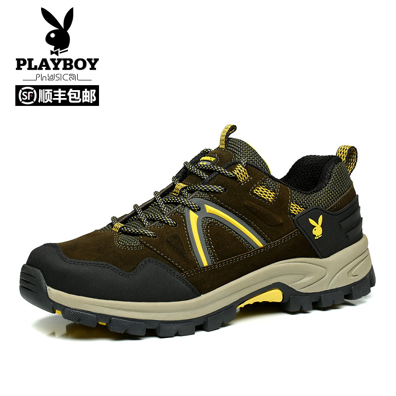 Playboy hiking shoes men's shoes lovers sports shoes non-slip walking shoes female breathable waterproof outdoor shoes large size shoes