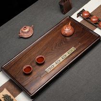 Original entier noir bois de santal naturel en bois massif plateau à thé Simple ménage taille table à thé Kung Fu thé drainage style chinois