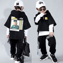 hiphop hip hop Boys street dance clothes long sleeve children training clothes thick sweater three-piece set chaobao catwalk clothing