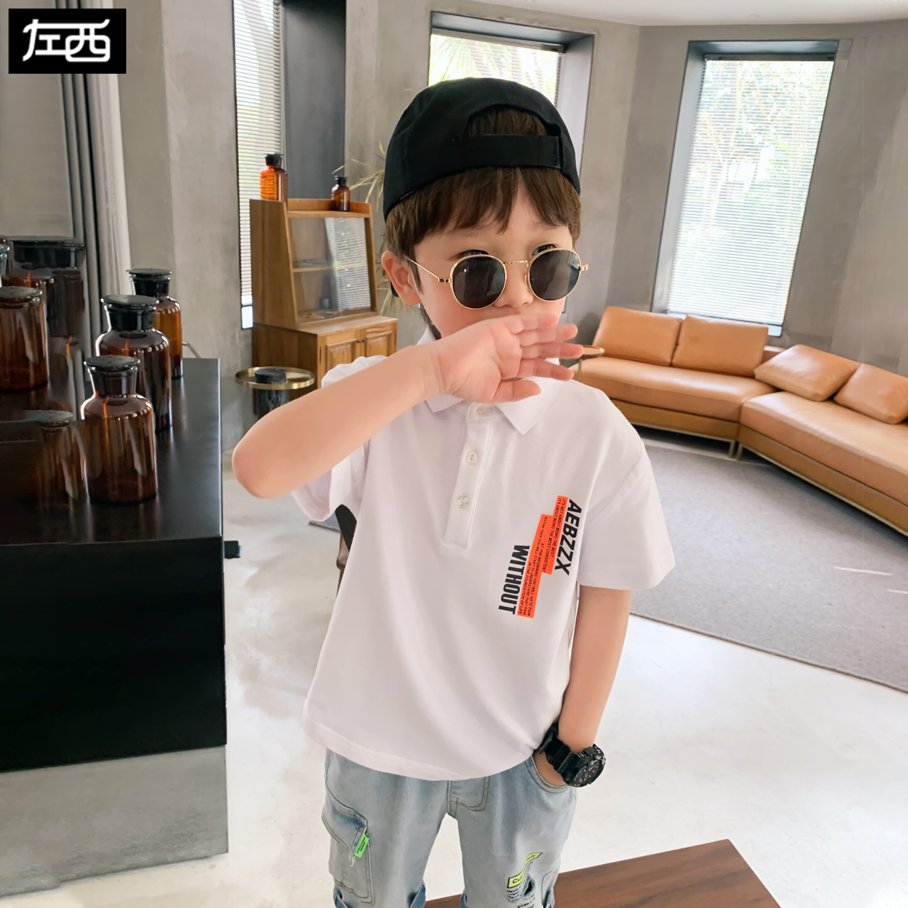 Zuoxi boys' polo shirt summer dress 2020 new children's short sleeve T-shirt Korean summer middle and big children's fashion clothes