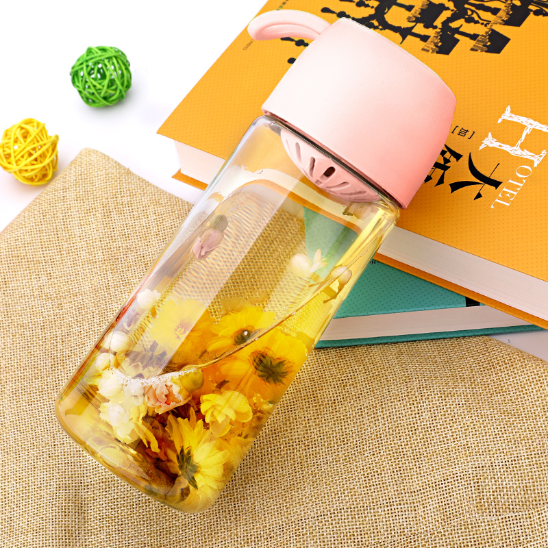 Supor Water Cup Girls Fresh Cute bb Cup Hand-in-Hand Cup Tritan Student Summer Portable Plastic Cup
