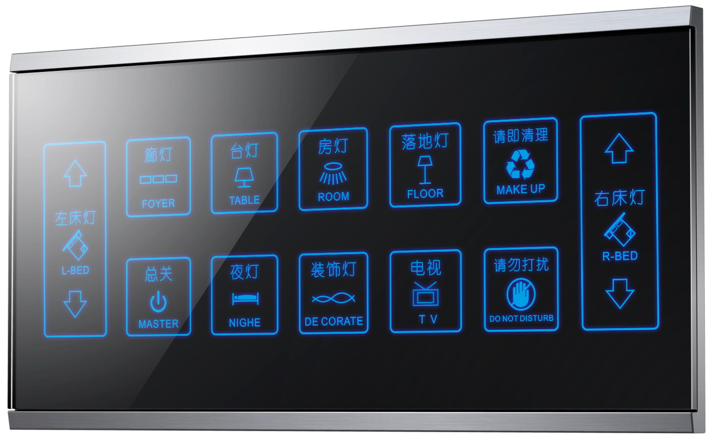 Win Crystal touch hotel multi-key switch weak 12V LCD touch multi-in-one switch