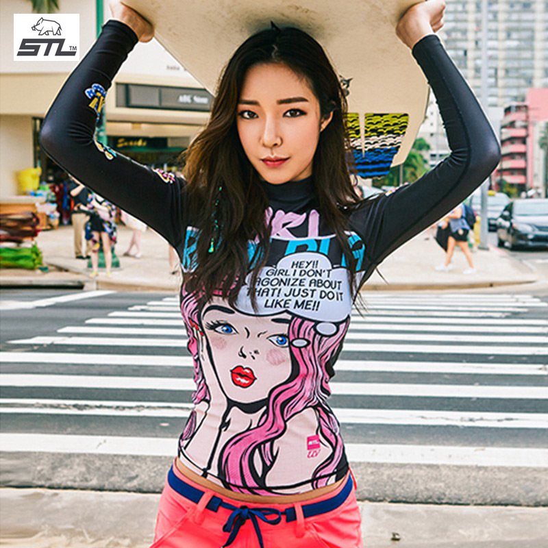 South Korea STL diving sunscreen long sleeve top women's warm beach swimming surfing snorkeling suit split jellyfish