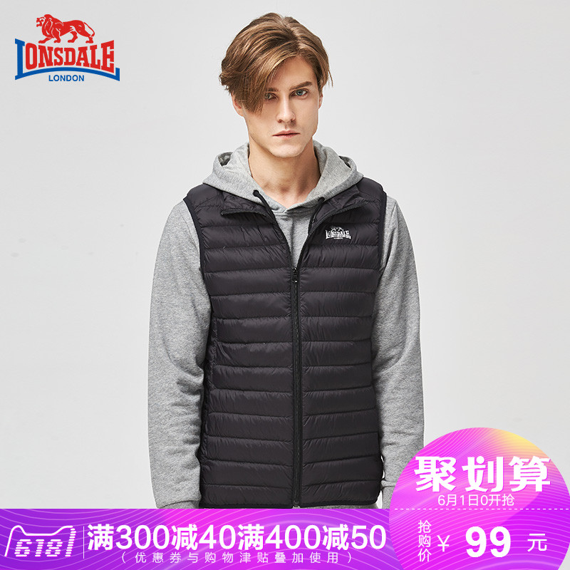 Dragon and Lion Dale vest men's autumn and winter light down vest sports stand collar vest vest vest warm down jacket