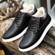 Autumn and winter men's shoes casual shoes mens shoes with thick warm cashmere cotton Pro Korean tide