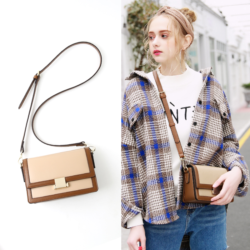 Black eye bag French small group senior sense women's Bag New Single Shoulder Messenger Bag fashion trend in autumn and winter 2019