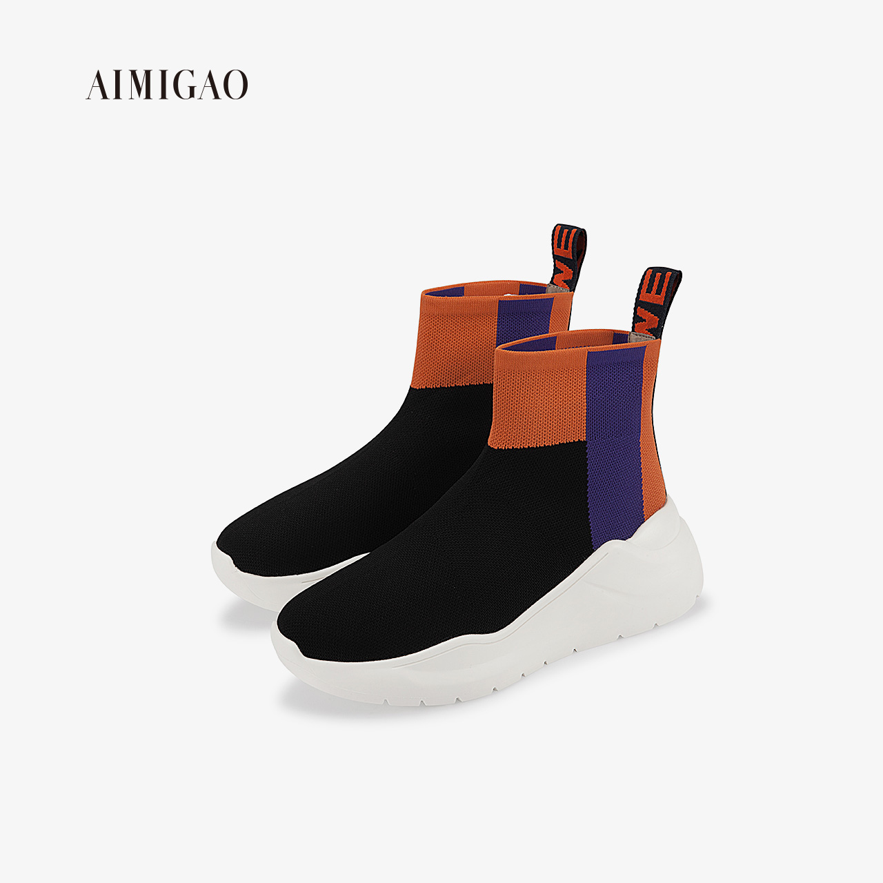 Ai Mi Gao 2018 autumn new fashion flat breathable booties net red street shoot wild casual women's shoes tide