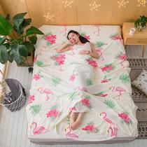 Путешествия постельное белье отель грязный двухместный спальный мешок хлопок гостевой дом путешествия постельное белье одеяло цельный портативный