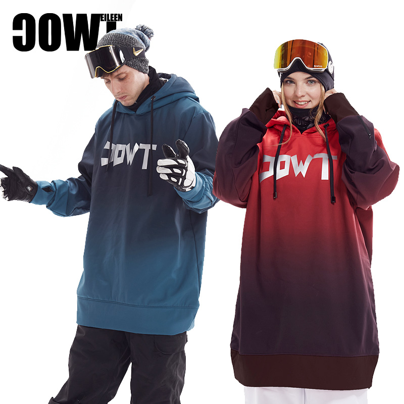 Gradual change in fashion of men's and women's trend ski hoodies and ski suits of the 2nd degree TWOC waterproof soft shell series