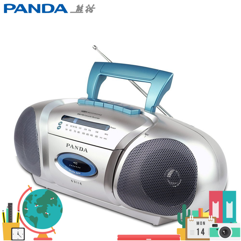 Panda 6311E cassette player, stereo speaker, student English learning and charging