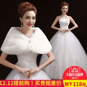 Autumn and winter Korean Princess Qi bra wedding 2017 new slim bride wedding dress simple long tails