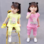 2017 New Girls Summer Cotton suit 1-5 years old female baby pig 2 summer page 3 two sets.