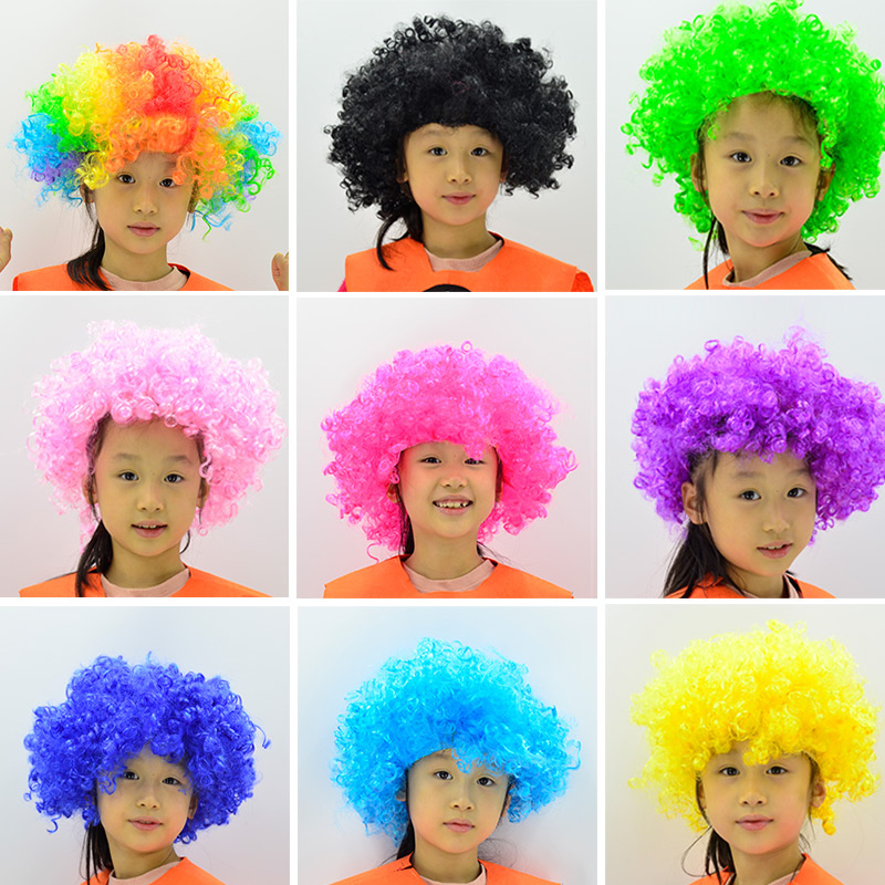 Clown wig live performance props adult children explosive head wig cover funny head cover funny video