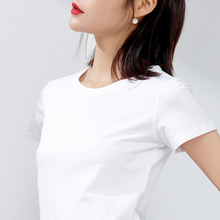 2018 early spring and summer pure white t-shirt female short-sleeved round neck self-cultivation compassionate solid color half-sleeved white t-shirt women