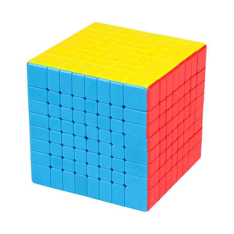 Magic Cube Classroom 8-step Magic Cube Real-color Design Spring Structure