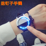 Korean version of the tidal wave of female students watch intelligent male creative personality led touch screen simple black and white couples table